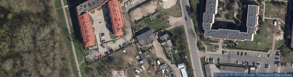 Zdjęcie satelitarne Odkryta ul.