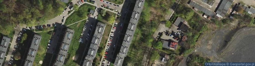 Zdjęcie satelitarne Orzegowska ul.