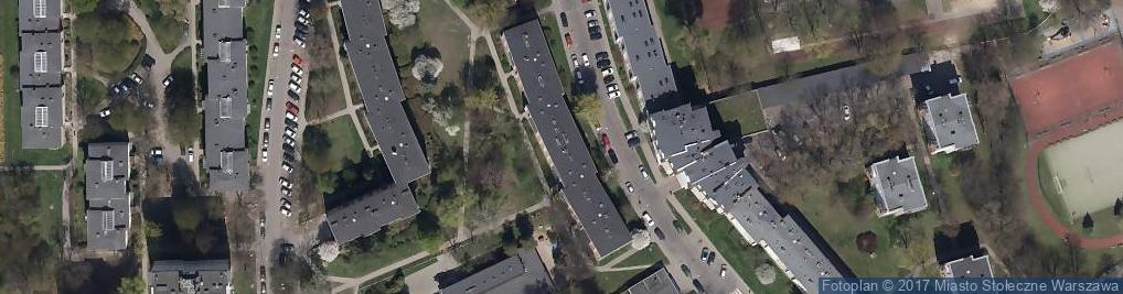 Zdjęcie satelitarne Pułku AK Baszta ul.