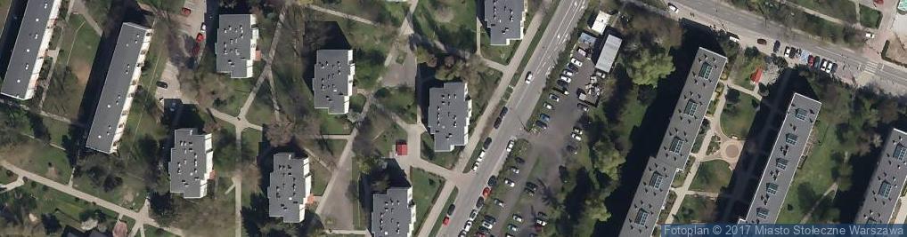 Zdjęcie satelitarne Radarowa ul.