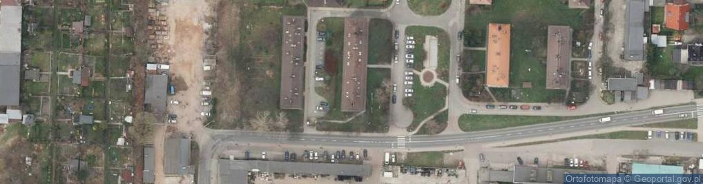 Zdjęcie satelitarne Sawickiej Hanki ul.