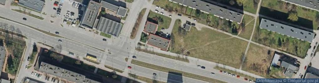 Zdjęcie satelitarne Sandomierska 107