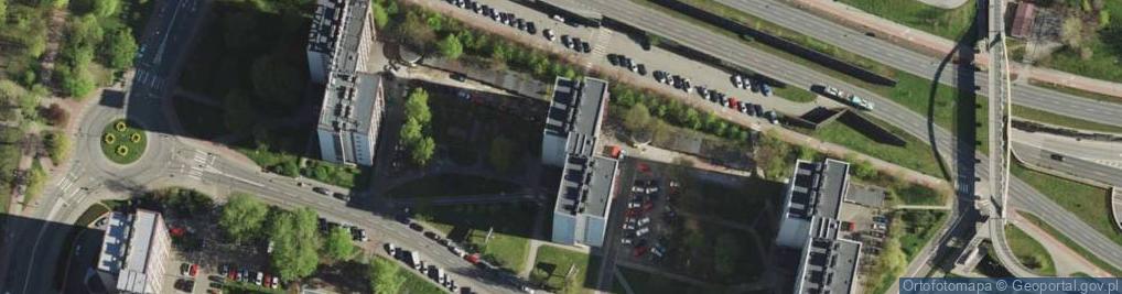 Zdjęcie satelitarne Uniwersytecka 25