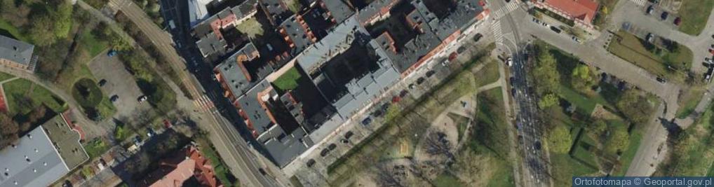 Zdjęcie satelitarne Za Groblą ul.