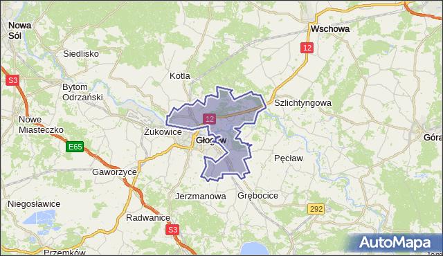 gmina Głogów - powiat głogowski na mapie Targeo