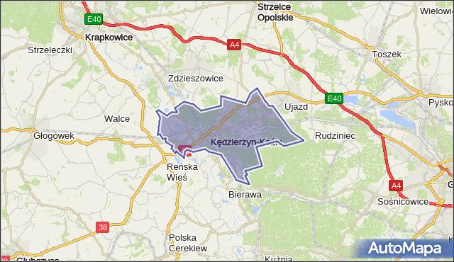 gmina Kędzierzyn-Koźle - powiat kędzierzyńsko-kozielski na mapie Targeo