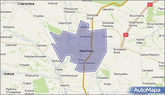 gmina Miechów - powiat miechowski na mapie Targeo