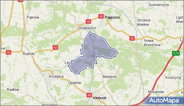 gmina Popów - powiat kłobucki na mapie Targeo