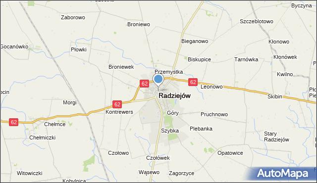 Mapa Polski Targeo, mapa Radziejów, Radziejów na mapie Targeo
