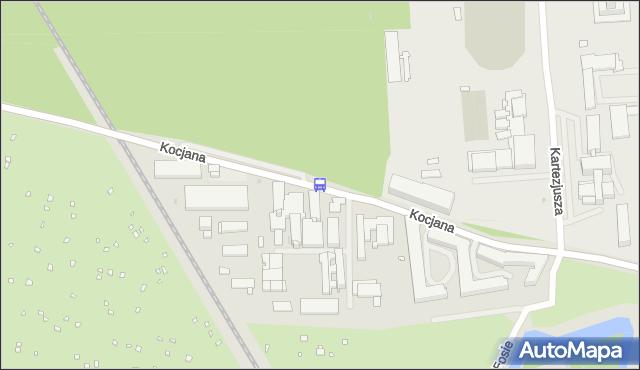 Przystanek KOCJANA-SĄDY 02. ZTM Warszawa - Warszawa na mapie Targeo