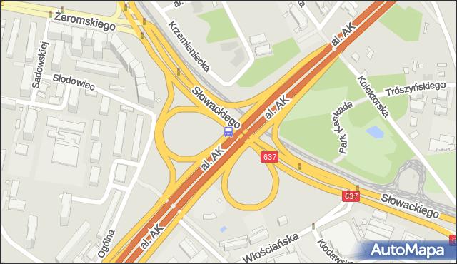 Przystanek PARK KASKADA 06. ZTM Warszawa - Warszawa na mapie Targeo