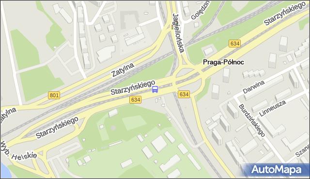Przystanek rondo Starzyńskiego 04. ZTM Warszawa - Warszawa na mapie Targeo