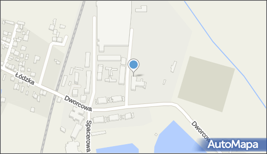 Mapa Polski Targeo, Centrum kultury GOK, Moszczenica, Dworcowa 16a