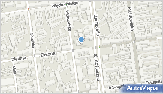 nr 53, Łódź, ul. Zielona 13  - Parkomat