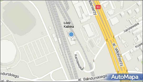 Łódź Kaliska, Łódź, Karolewska 55  - Stacja, Dworzec kolejowy
