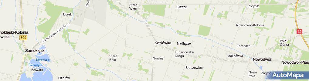 Zdjęcie satelitarne Pałac Zamoyskich w Kozłówce