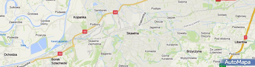 Zdjęcie satelitarne Bank Spółdzielczy w Skawinie