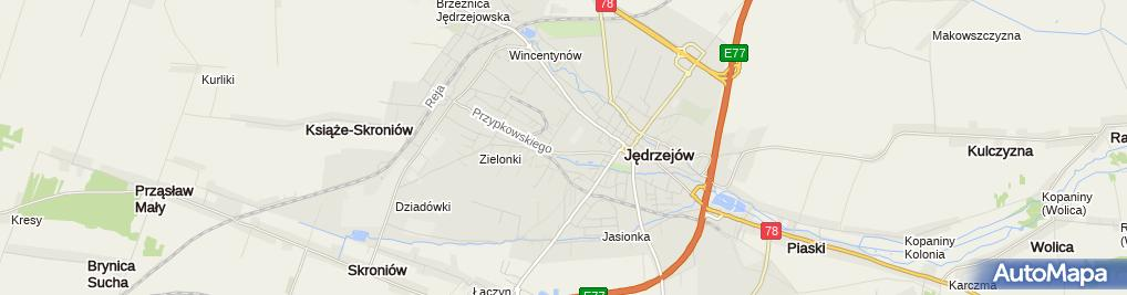 Zdjęcie satelitarne Bank Spółdzielczy Jędrzejów