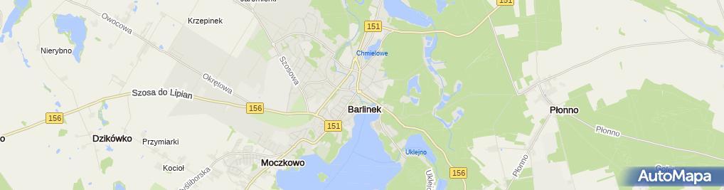Zdjęcie satelitarne GBS Barlinek