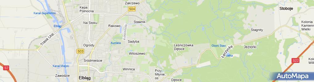 Zdjęcie satelitarne Góra Chrobrego