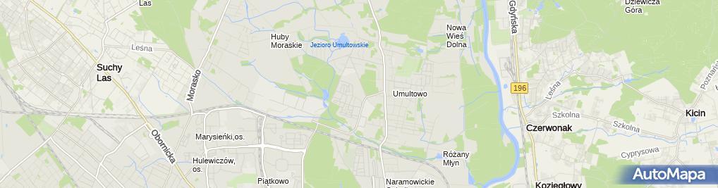 Zdjęcie satelitarne Pływalnia UAM