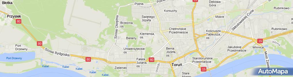 Zdjęcie satelitarne Uniwersyteckie Centrum Sportowe UMK