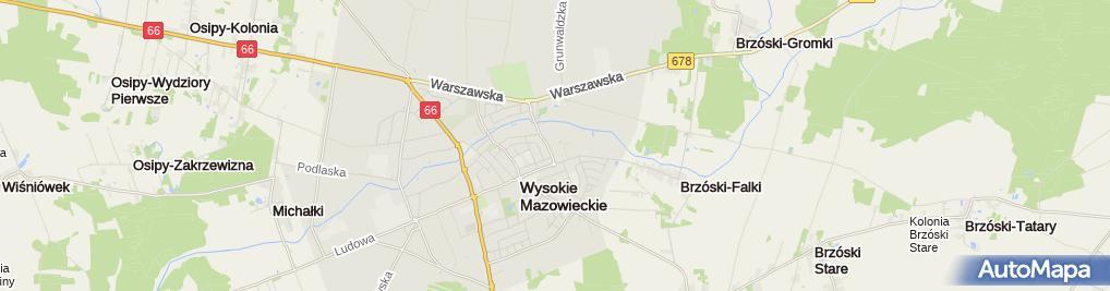 Zdjęcie satelitarne Biedronka