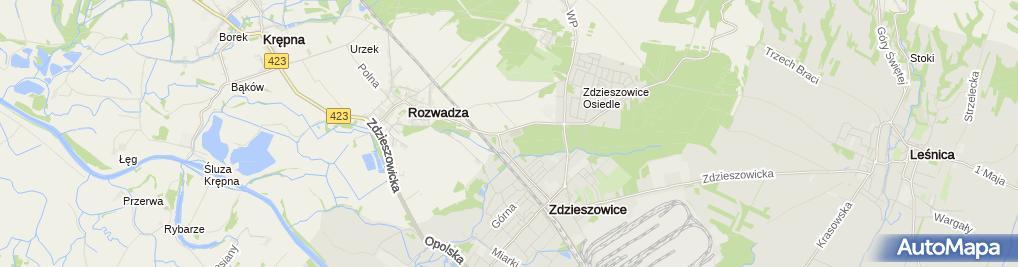 Zdjęcie satelitarne Boisko sportowe