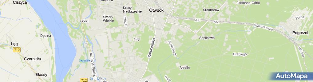 Zdjęcie satelitarne START OTWOCK