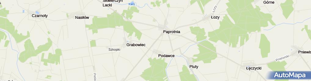 Zdjęcie satelitarne Tartak