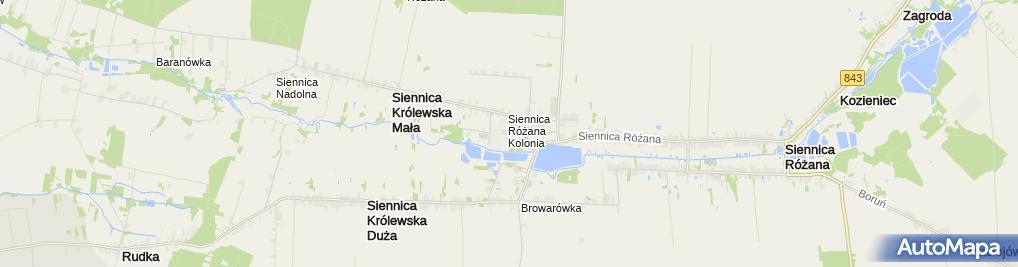 Zdjęcie satelitarne Centrum  Kultury  w Siennicy Różanej