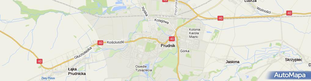 Zdjęcie satelitarne Prudnicki Ośrodek Kultury i Biblioteki Publicznej w Prudniku