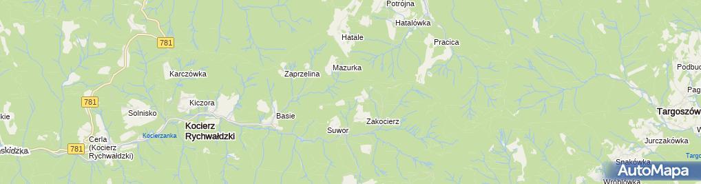 Zdjęcie satelitarne Skala Zbojnickie Okno