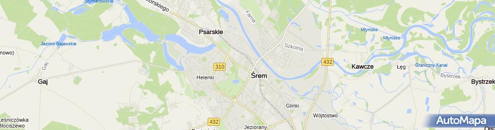 Zdjęcie satelitarne Staromiejski
