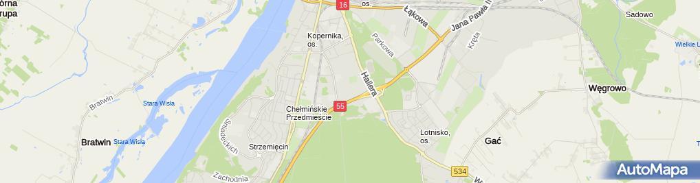 Zdjęcie satelitarne Deichmann