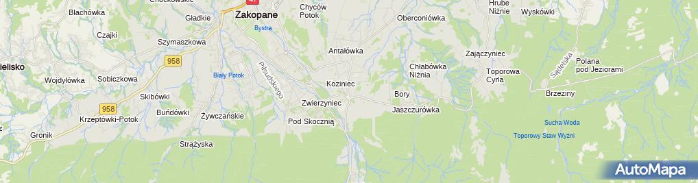 Zdjęcie satelitarne Delikatesy Centrum