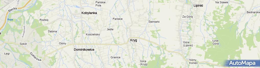 Zdjęcie satelitarne Dom Ludowy Kryg