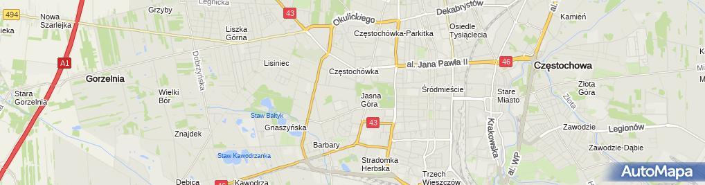 Zdjęcie satelitarne im. Jana Pawła II
