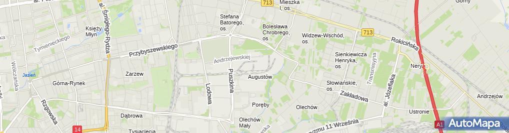 Zdjęcie satelitarne Elektrownia