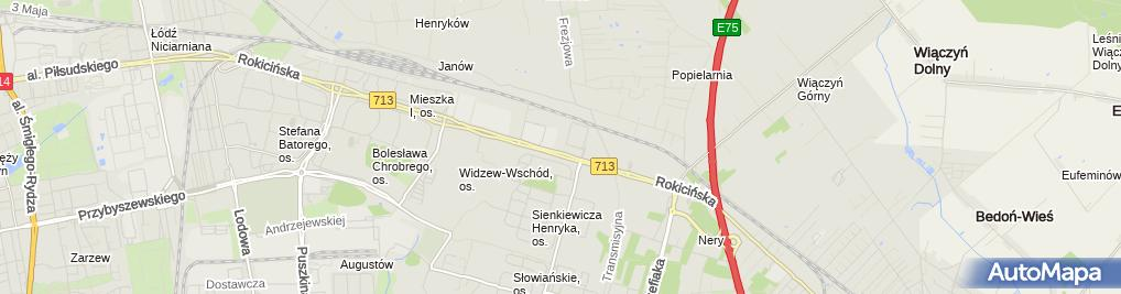 Zdjęcie satelitarne Solar Polska Sp. z o.o.