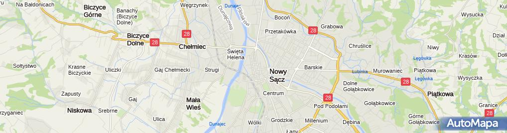 Zdjęcie satelitarne MDK im. St. Szafrana