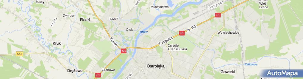 Zdjęcie satelitarne Gazownia