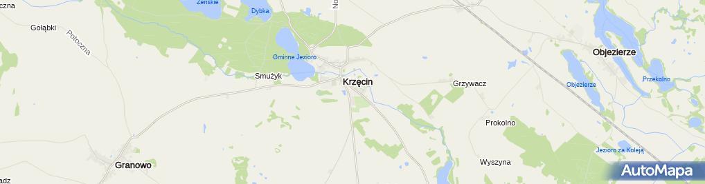 Zdjęcie satelitarne ZS w Krzęcinie