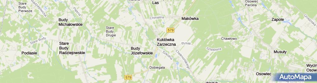 Zdjęcie satelitarne Gościniec Kuklówka