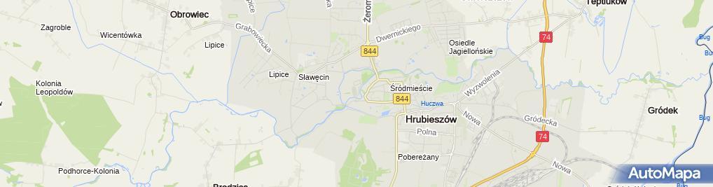 Zdjęcie satelitarne MKS Unia Hrubieszów