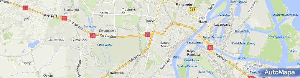 Zdjęcie satelitarne Hotel Politechniki Szczecińskiej