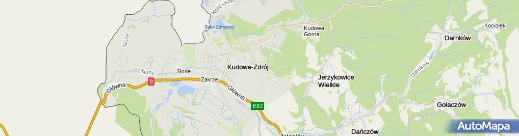 Zdjęcie satelitarne Szpital Uzdrowiskowy dla Dzieci Jagusia