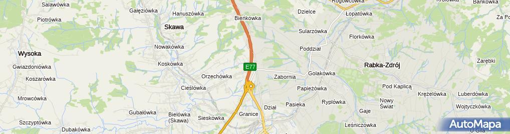 Zdjęcie satelitarne Zabornia