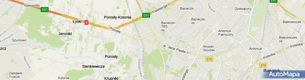 Zdjęcie satelitarne Spectrum Niezależny Serwis Białystok. Ford, Hyundai, KIA Serwis