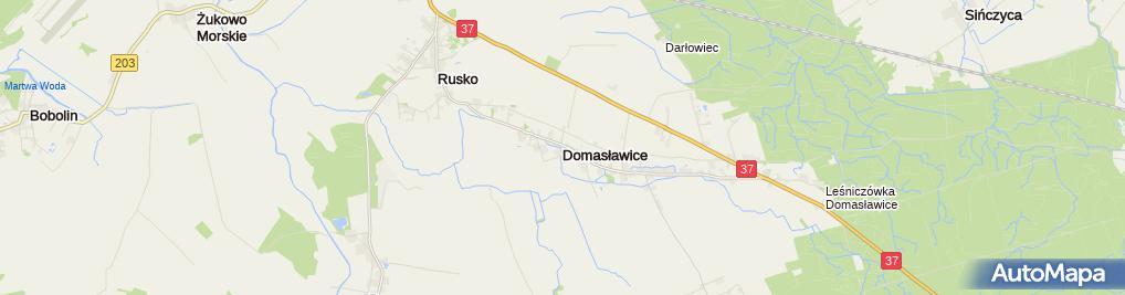 Zdjęcie satelitarne Domasławice (województwo zachodniopomorskie)